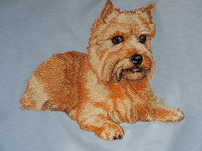 Embroidered Long-Sleeved T-Shirt - Norwich Terrier BT3985  Sizes S - XXL