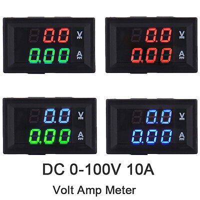 DC0-100V Dual LED Digital Voltmeter Ammeter Panel Voltage Current Tester Display