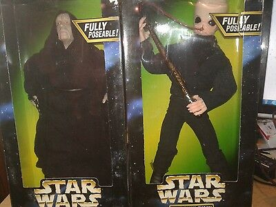 2 12 inch star wars action figures emperor palpatine and barquin d'an