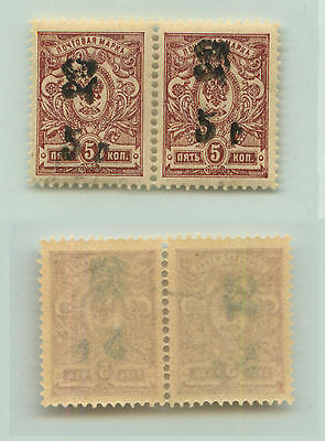 Armenia, 1920, SC 136, mint, black Type F or G, horizontal  pair. e9422