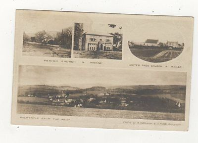 Dalrymple Ayrshire Scotland 1904 RP Postcard Mathieson / Paton