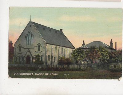 UF Church & Manse Bellshill Lanarkshire Scotland Vintage Postcard