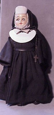 Vintage 1960s NUN DOLL hard plastic complete outfit