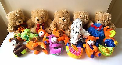 Job Lot Of Teddy Bears And Other Soft Toys
