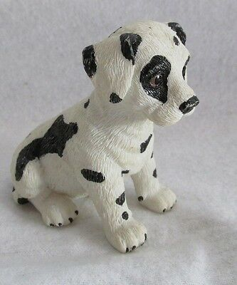 Sandicast Dalmation Black And White Dog Figurine Signed R F A