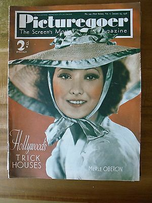 Picturegoer   January 29th  1938  Merle Oberon   Cover