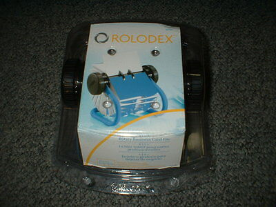 Rolodex Blue Rotary Business Card File #92446 New In Box Free Shipping