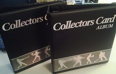 2 Collector's Card Album & 20 Insert Pages Holds 360 Cards Mint  Free Shipping