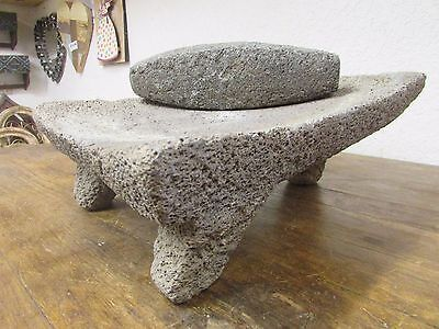 Antique Metate #7-Grinder-Rustic-Complete-Old Mexican--Primitive-12x16x7H