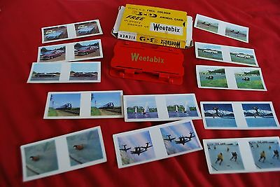 Boxed Weetabix Branded Vistascreen Stereo Viewer With 13 Cards Thriils/cars