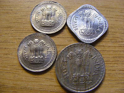 A Collection of 4 India Coins - Dates  1975 - 1980