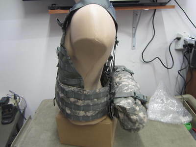 New Military ACU Fighting Load Carrier FLC Vest MOLLE II w/ Waist Pack  *