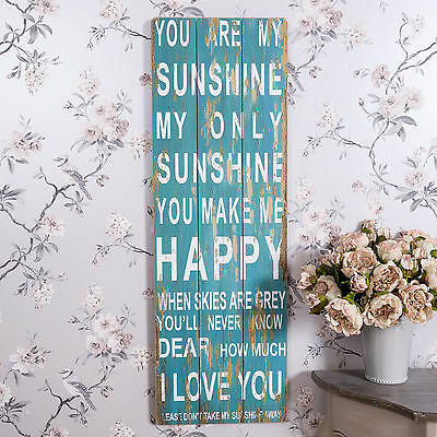 Large Sunshine Plaque Rustic Shabby Kitchen Vintage Home Accessory Sign Chic