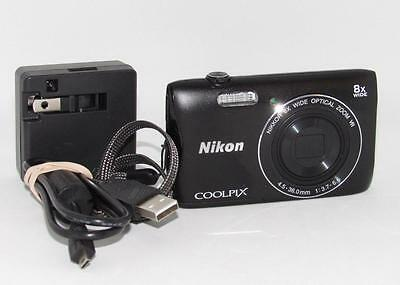 Nikon COOLPIX S3700 20.1 MP Digital Camera - Black
