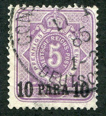 GERMANY Offices  In  Turkish  Empire  1  Very  Nice Used  Issue UPTOWN 27874