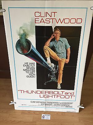 """Thunderbolt And Lightfoot *1974 Original Movie Poster, Style """"c"""" Clint Eastwood"""