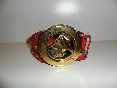 LRG Lifted Research Group Men's Belt - Red - Size Large - Brand New