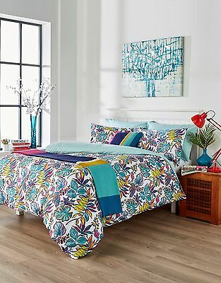 Tropical Floral Bedding Multi Coloured Duvet Cover Set, Cushion or Throw