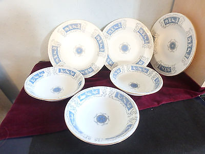 "Coalport English Bone China ""revelry""  3 Soup And 3 Cereal/sweet Bowls"