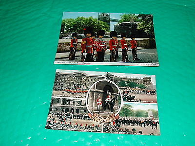 2 X London Military Postcards 1950's & 1980's