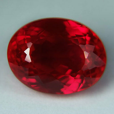 15.00ct.AWESOME BLOOD RED RUBY OVAL LOOSE GEMSTONE