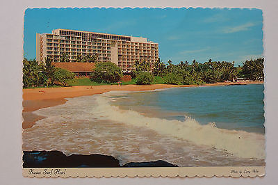Postcard Kauai Surf Hotel Beachfront Unposted
