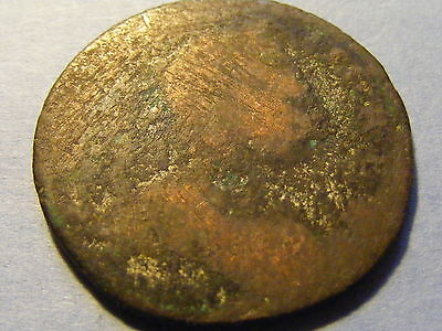 1771 George III Half Penny Coin - Worn Condition  - 28mm Dia
