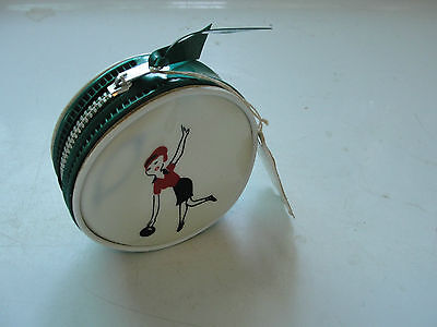 Ladies vinyl coin pouch for bowling league, 1968-69, old, zippered, purse