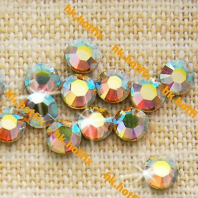 144 pcs. GENUINE Swarovski 2mm ss5 AB Jonquil (213AB) Hotfix Iron on Rhinestones