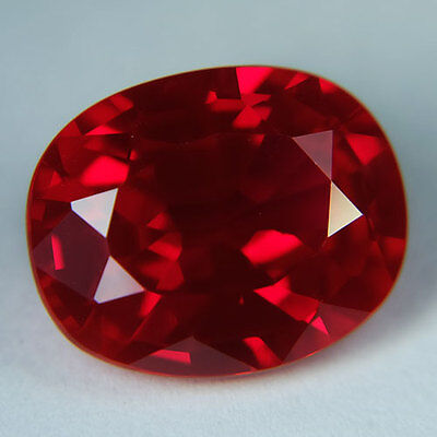 14.05ct.AWESOME BLOOD RED RUBY OVAL LOOSE GEMSTONE