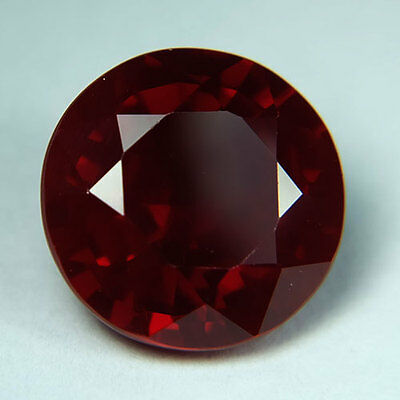8.60ct.AWESOME BLOOD RED RUBY ROUND LOOSE GEMSTONE