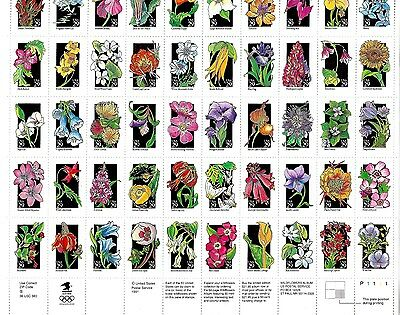 U.S.A.,,1991,, Sheet of 50 State Wildflowers,, MNH, as issued from Post Office,