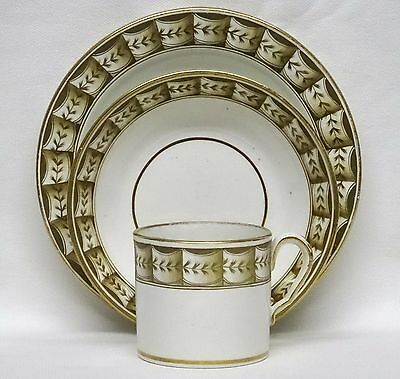 Georgian SPODE Pearlware Coffee Can, Saucer & Plate TRIO, c1815 - 2
