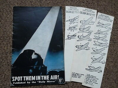 SPOT THEM IN THE AIR!  WWII Aircraft Spotter Book - with extra drawings
