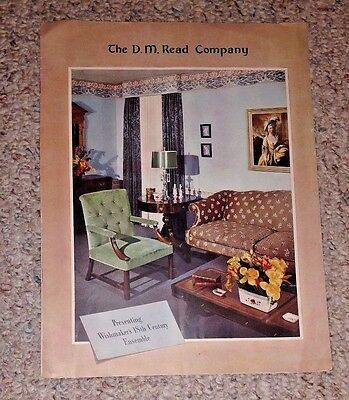 Advertising Brochure DM READ CO Home Decorating Furniture Textiles Palette 1942