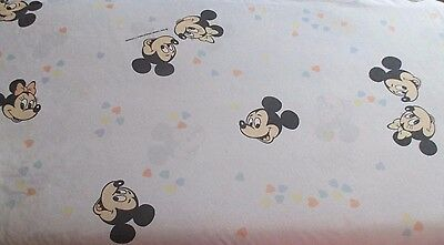 Drap housse (rare) fitted sheet bed CTI France Mickey Minnie vintage