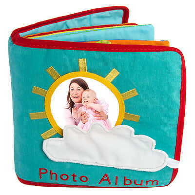 One Step Ahead Baby First Photo Album Activity Book Fabric Boy Girl 4x6 Pictures