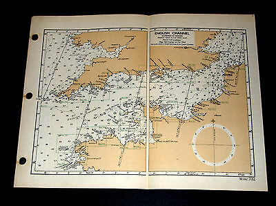 D-DAY INVASION PLANNING. WW2 Naval Map of English Channel 1943