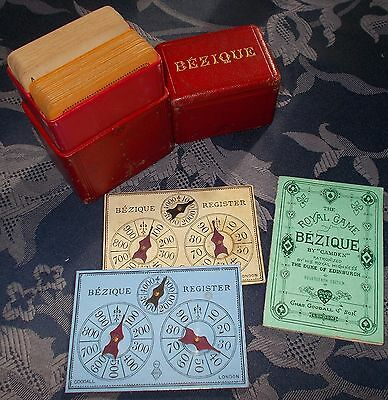 ANTIQUE  PLAYING  CARDS    GOODALL AND SON   BEZIQUE SET  C.1890s / 1900