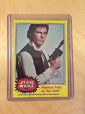 2017 Topps Star Wars 40Th Anniversary Buy Back Harrison Ford Han Solo Card 144