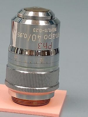 Zeiss Planapo  PH3   40x / 0.95   160 /0.11-0.23  Tested Microscope Objective