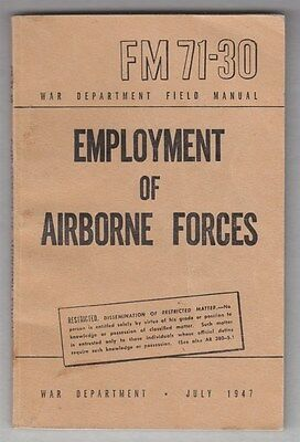 Manual:  FM 71-30 Employment of Airborne Forces, 1947