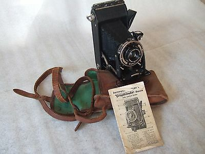 Quality Bessa Voigtlander Braunschweig Folding Camera Case & Instruction Book