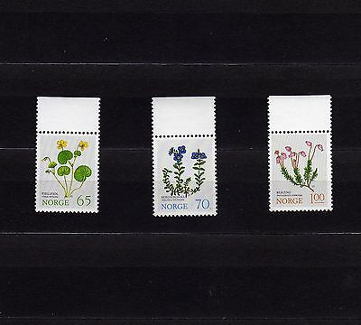 Norway #626-628 Mnh Norwegian Flora