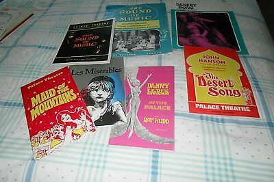 Seven Programmes and Souvenir Magazines from The Palace Theatre, London