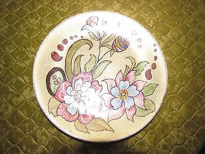 Decorative Floral  Hand Painted Wall Plate With Gilding