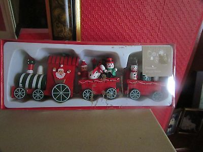 Wooden Christmas Train Set