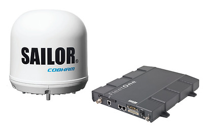 Cobham Sailor Fleet One Inmarsat Satellite Internet Maritime Terminal ✴Brand New