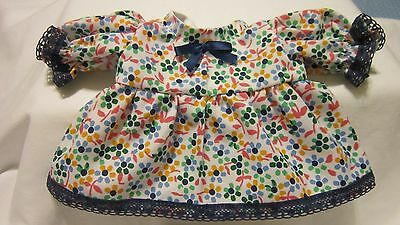 """Multicolor Floral Print Dress/bloomers, fits 10"""" Lots to Love Berenguer babies"""