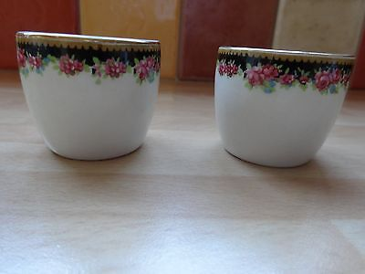 Vintage Egg Cups English Rose. Maddock Royal Vitreous x 2